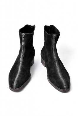 <img class='new_mark_img1' src='https://img.shop-pro.jp/img/new/icons8.gif' style='border:none;display:inline;margin:0px;padding:0px;width:auto;' />Fagassent COW SUEDE LEATHER F/B ZIP BOOTS -SPLIT- BLACK