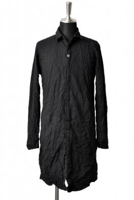 <img class='new_mark_img1' src='https://img.shop-pro.jp/img/new/icons8.gif' style='border:none;display:inline;margin:0px;padding:0px;width:auto;' />Fagassent - SH6 black - shrink cotton long shirt