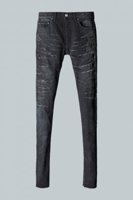 <img class='new_mark_img1' src='https://img.shop-pro.jp/img/new/icons8.gif' style='border:none;display:inline;margin:0px;padding:0px;width:auto;' />Fagassent - SWORD - black knives scar crushed denim