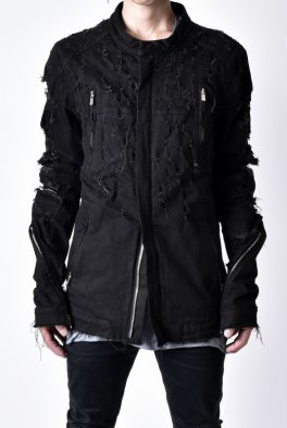 <img class='new_mark_img1' src='https://img.shop-pro.jp/img/new/icons8.gif' style='border:none;display:inline;margin:0px;padding:0px;width:auto;' />Fagassent - OGU / Shotgun Black Denim JACKET
