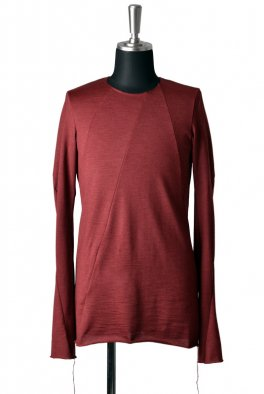 <img class='new_mark_img1' src='//img.shop-pro.jp/img/new/icons8.gif' style='border:none;display:inline;margin:0px;padding:0px;width:auto;' />Fagassent - Wine Red back fleece twisted sleeve jerzy-