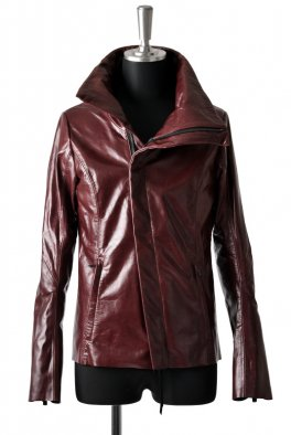 <img class='new_mark_img1' src='//img.shop-pro.jp/img/new/icons8.gif' style='border:none;display:inline;margin:0px;padding:0px;width:auto;' />Fagassent - Wine Red High Neck leather jacket-
