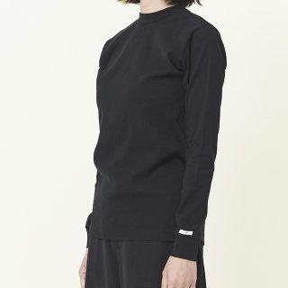 ビワコットンモックネックロングスリーブTシャツ