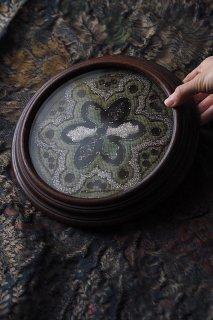 ヴィクトリア時代のメタルビーズ刺繍 展示台-Victorian beads round stand