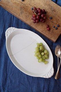 バイユー窯のグラタン皿-porcelain baking dish