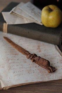 三位一体 木彫のペーパーナイフ-wood carving letter opener