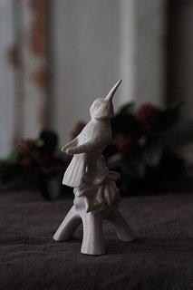 集いの鳥フィギュリン-porcelain bird figurine
