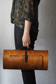 プライ、Plywoodのハンドバック-vintage plywood handbag