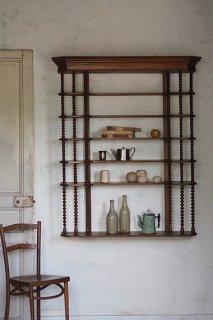 ルーフ付き大きなウォールシェルフ-antique french wall shelf