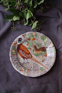色彩飛ぶ アンビエントに-vintage gien plate