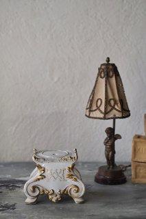 パリ窯 ゴールド巡らす陶器台-antique french porcelain base