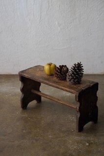 木製 小さな作業スツール-antique wood stool