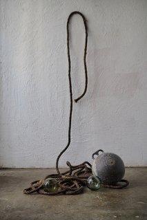アンソロジー ロープと浮き玉-vintage or antique rope & float ball