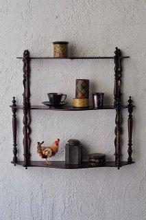 装いウォールデコレーション-antique wall shelf