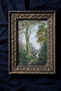 小窓的油絵-antique oil painting frame