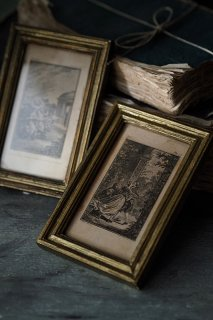 グラビュール画額縁-antique gold frame