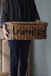 柳のアンティークバスケット-antique wicker basket