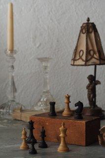 一手集中 チェスセット-wood chess set&box