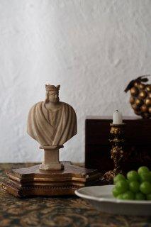胸像 王の横顔-antique marble bust
