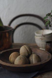石化擬似フルーツ-antique stone fruit objet