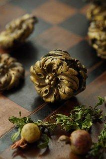 花形ロゼット装飾マテリアル-antique metal rosette parts