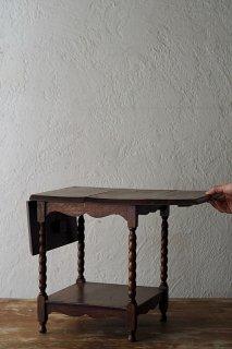 ドール用両翼サイドテーブル-antique oak butterfly side table