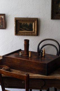 チェス&バックギャモン 大きな盤面-antique chess&backgammon game set
