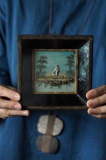 長閑と優しさの縮図-antique glass square frame