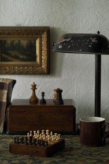 今日の一局 小さなチェスを一手-antique small chess game set