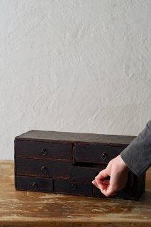 静謐 侘びの小引き出し-antique small drawer chest