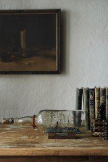 ボトルシップ-vintage ship in a bottle