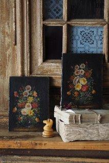 その日、開花の花たち-antique oil painting
