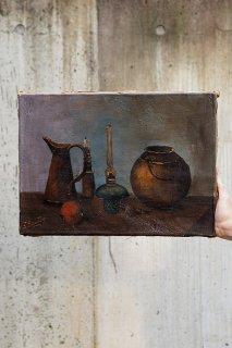 モランディを追え-still life oil painting on canvas