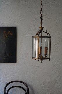 3灯ガラス円膜ランプ-antique glass pendant lamp