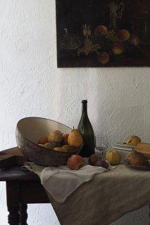 虹持つ全て-vintage papier mache bowl
