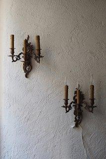 躍動のバロック 壁掛けランプ-antique pair bracket lamp