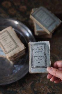 イタリア古典小さな本-antique paperback italy book