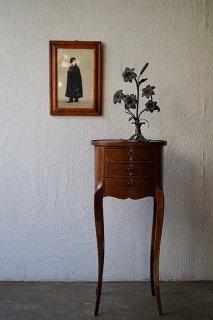 オーバルチェストテーブル-antique cherry side chest