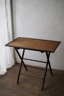 和漢洋フォールディングテーブル-antique folding rush top table