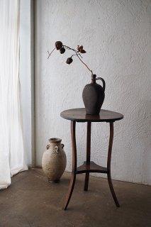 フレンチランプテーブル-antique tripod round table