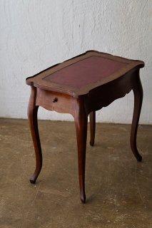 ローサイドテーブル-cabriolet leg low leather top side table