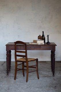 框組み枠天板オークデスク-antique oak table