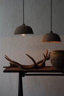 土質温かみあるシェードランプ-paper shade pendant lamp