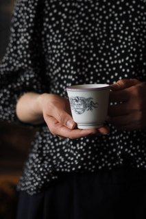 酒蔵メーカーマークブリュロ-vintage ceramic brulot cup