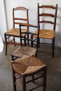 共通項 ラッシュ座面椅子-antique rush chair&stool