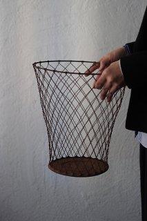 流線ワイヤーバスケット-vintage waste basket