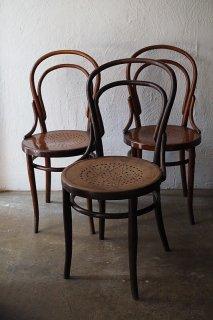 星穿孔ベントウッドチェア-antique bentwood chair