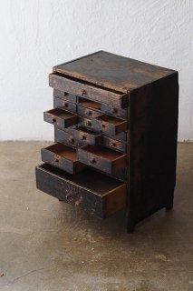 時計屋さん小引き出し-antique pine drawer chest