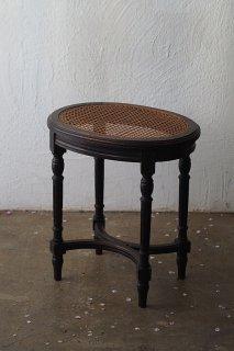 ラタン腰掛けスツール-oval rattan stool