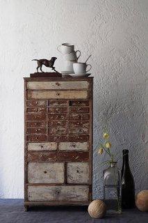 引き出し数杯卓上チェスト-antique small chest
